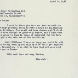 Letter : 1958 April 4