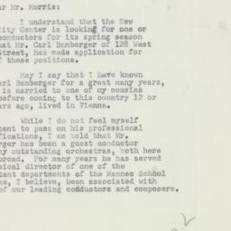Letter : 1952 January 22