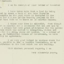 Letter : 1955 November 30