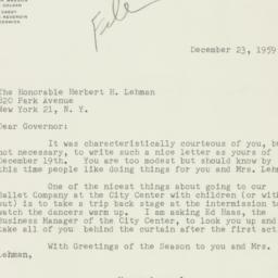 Letter : 1959 December 23