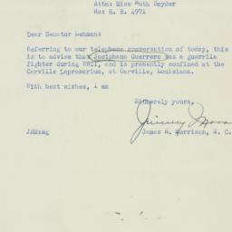 Letter : 1951 September 7