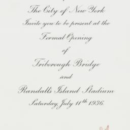 Invitation: 1936 July 11