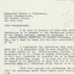 Letter : 1932 September 27