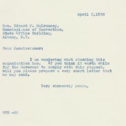 Letter : 1938 April 2