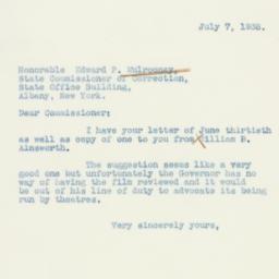 Letter : 1938 July 7