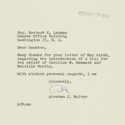 Letter : 1954 May 12