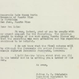 Letter : 1950 November 2