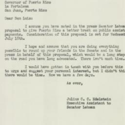 Letter : 1951 July 13
