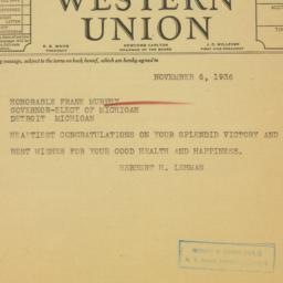 Telegram : 1936 November 6