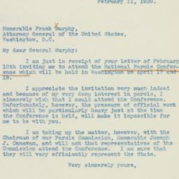 Letter : 1939 February 11