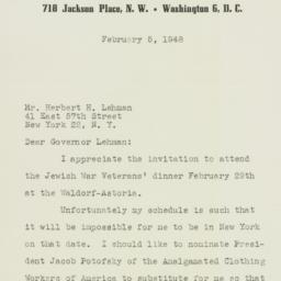 Letter : 1948 February 5
