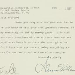 Letter : 1951 October 4