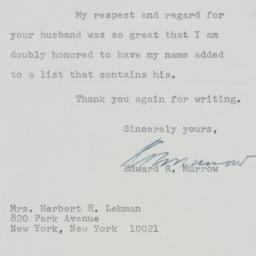 Letter : 1964 September 23