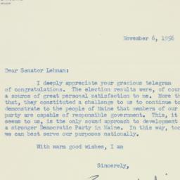 Letter : 1956 November 6