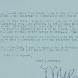 Letter : 1962 September 14