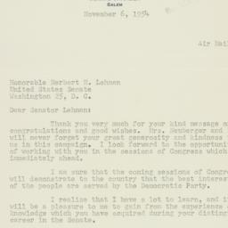 Letter : 1954 November 6
