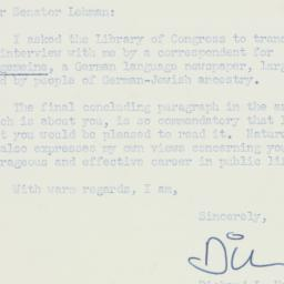 Letter: 1955 March 15