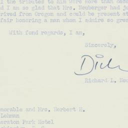 Letter: 1955 May 14