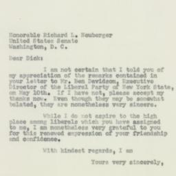 Letter: 1956 May 22