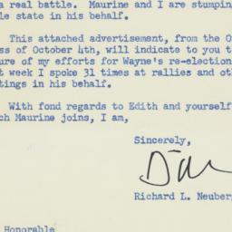 Letter: 1956 October 15