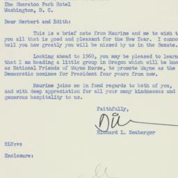 Letter: 1956 December 26