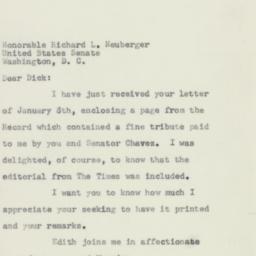 Letter: 1957 January 11