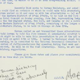 Memorandum: 1957 February 28