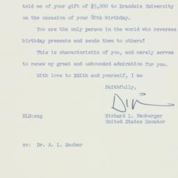 Letter: 1958 April 1
