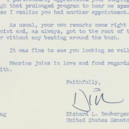 Letter: 1958 April 21