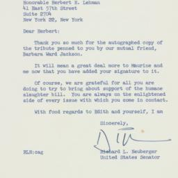 Letter: 1958 May 23