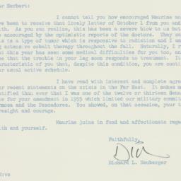 Letter: 1958 October 7