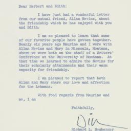 Letter: 1959 February 20