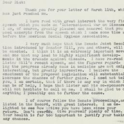 Letter: 1959 March 17