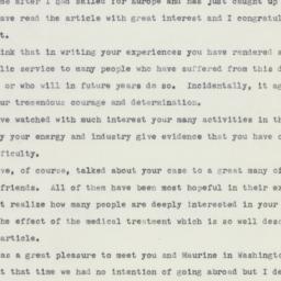 Letter: 1959 July 26