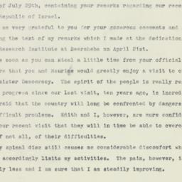 Letter: 1959 August 5