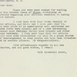 Letter: 1960 January 12