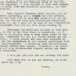 Letter: 1960 February 4