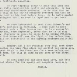 Letter: 1960 February 25