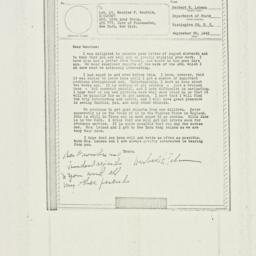 Letter: 1943 September 20