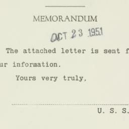 Letter : 1951 October 23