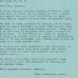 Letter : 1951 October 18