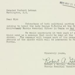 Letter : 1953 May 17