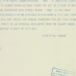 Telegram : 1933 January 3