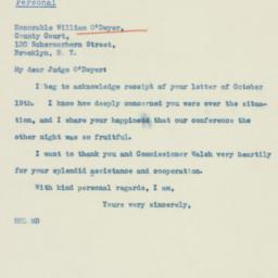 Letter : 1938 October 22