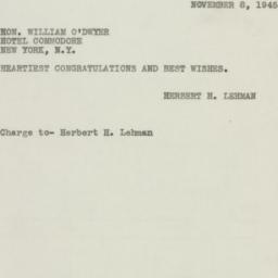 Telegram : 1945 November 8