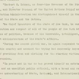 Press release : 1946 Octobe...