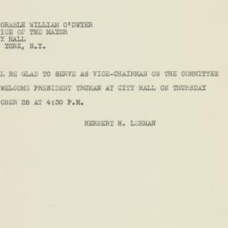 Telegram : 1948 October 26