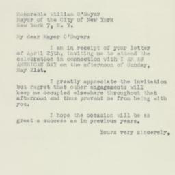 Letter : 1950 May 8
