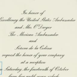 Invitation : 1950 October 6