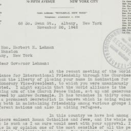Letter : 1942 November 20